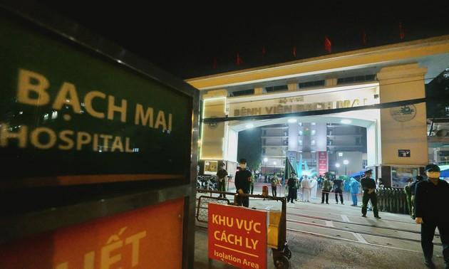 Bệnh viện Bạch Mai, Hà Nội hết hạn cách ly