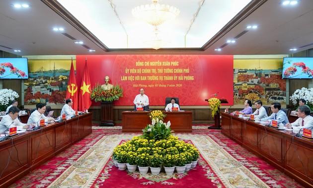 Thủ tướng muốn Hải Phòng quyết tâm thực hiện mục tiêu kép