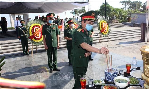 Quảng Trị truy điệu và an táng những hài cốt liệt sĩ Việt Nam hy sinh tại Lào