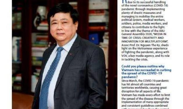 Tạp chí ABU phỏng vấn Tổng giám đốc Đài TNVN Nguyễn Thế Kỷ về phòng chống Covid