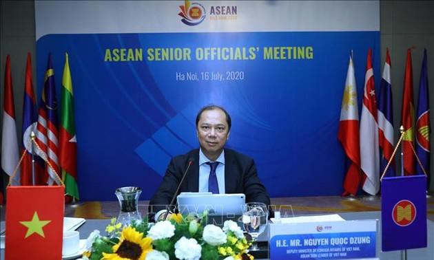 Quan chức cao cấp ASEAN họp trực tuyến tích cực chuẩn bị cho các hội nghị cấp Bộ trưởng
