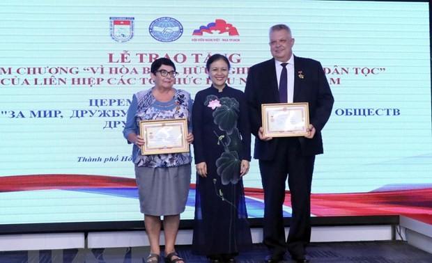 Tri ân các cá nhân  đóng góp tích cực cho mối quan hệ Việt Nam- Liên bang Nga