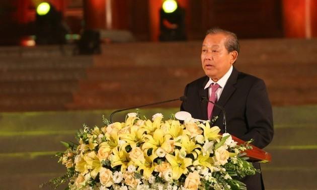 Phó Thủ tướng thường trực Chính phủ Trương Hòa Bình dự chương trình Vì bình yên cuộc sống