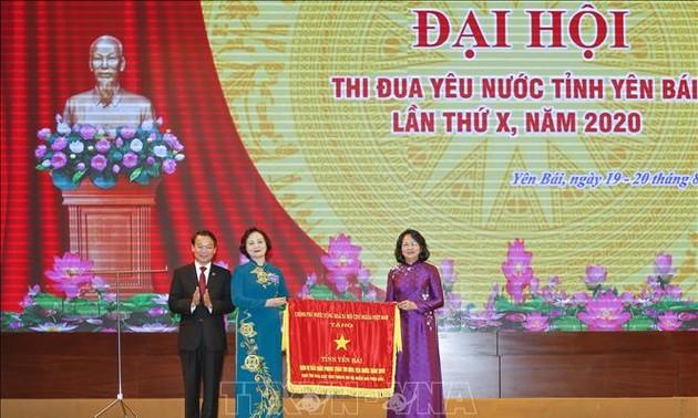 Phó Chủ tịch nước Đặng Thị Ngọc Thịnh dự Đại hội thi đua yêu nước tỉnh Yên Bái lần thứ X