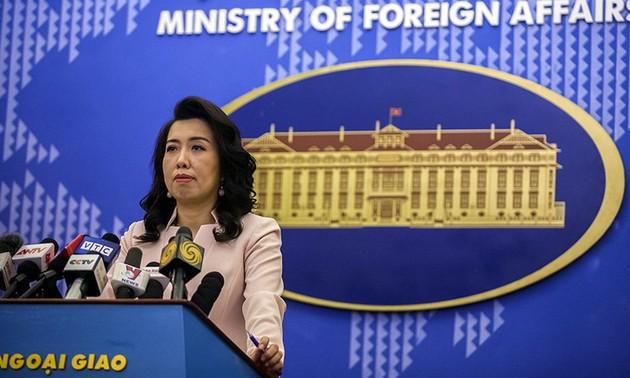 Việt Nam phản đối việc Trung Quốc có các hoạt động trái phép tại Biển Đông