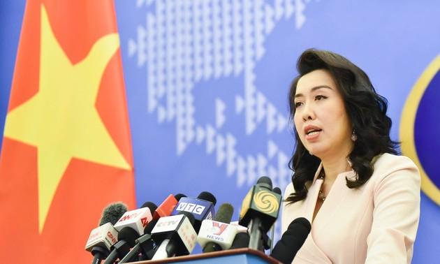 Việt Nam khẳng định lập trường nhất quán đối với hai quần đảo Hoàng Sa và Trường Sa