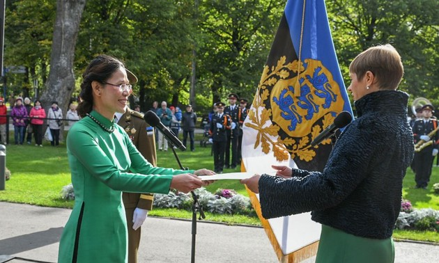 Đại sứ Đặng Thị Hải Tâm trình Thư ủy nhiệm lên Tổng thống Estonia