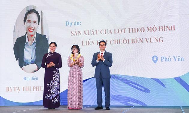 Phó Thủ tướng Vũ Đức Đam dự Lễ trao giải cuộc thi Phụ  nữ khởi nghiệp năm 2020