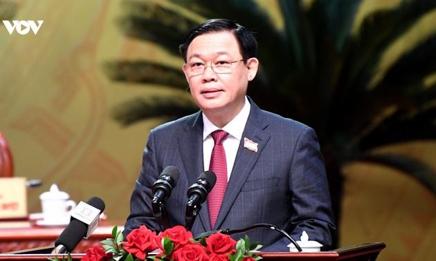 Ông Vương Đình Huệ tái đắc cử chức vụ Bí thư Thành ủy Hà Nội nhiệm kỳ 2020-2025