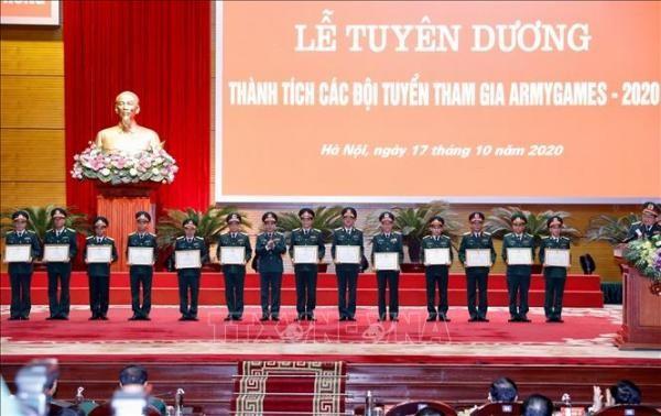 Tuyên dương thành tích các đội tuyển tham gia Army Games - 2020