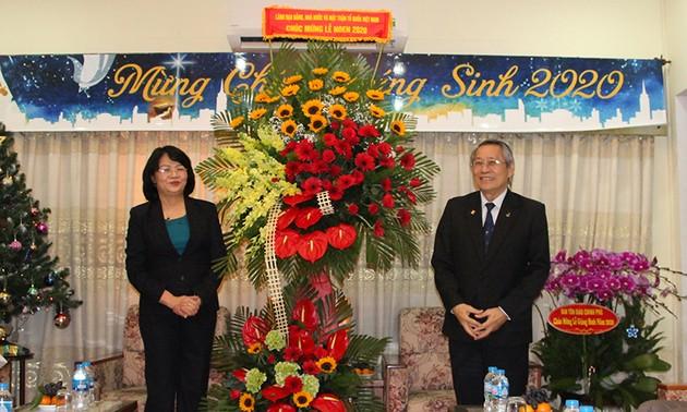 Phó Chủ tịch nước Đặng Thị Ngọc Thịnh chúc mừng Giáng sinh tại Hội thánh Tin lành Việt Nam