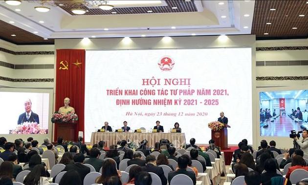 Thủ tướng dự Hội nghị triển khai công tác tư pháp 2021