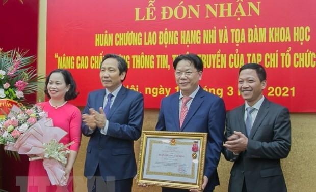 Lễ đón nhận Huân chương Lao động hạng Nhì và Tọa đàm khoa học của tạp chí Tổ chức nhà nước