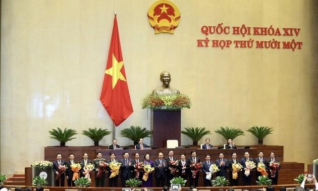 Điện mừng lãnh đạo Chính phủ, Quốc hội Việt Nam