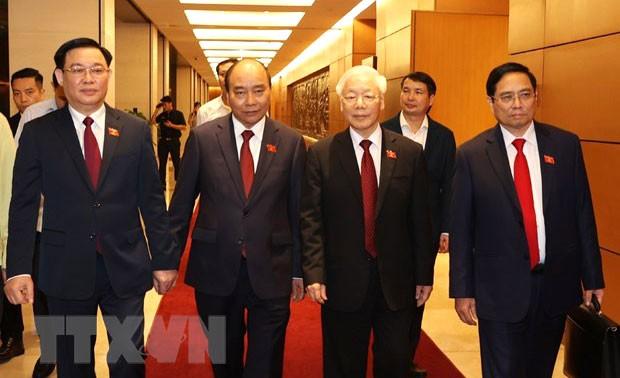 Điện mừng các nước gửi lãnh đạo cấp cao Việt Nam