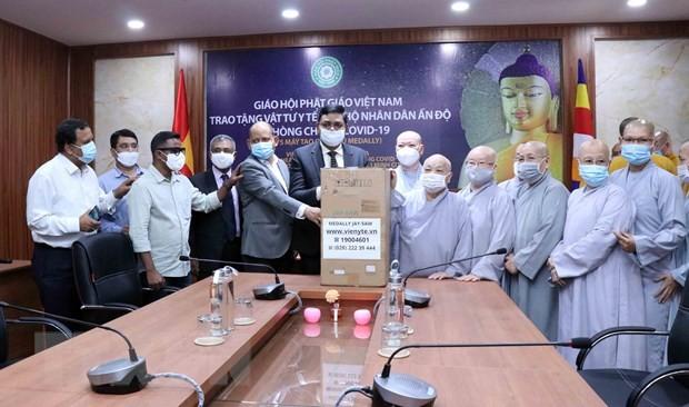 Giáo hội Phật giáo Việt Nam trao tặng thiết bị y tế hỗ trợ Ấn Độ phòng, chống dịch COVID-19