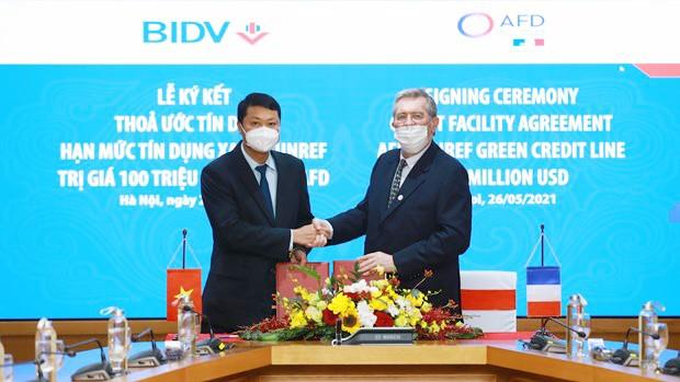 BIDV được cấp hạn mức 100 triệu USD để tài trợ lĩnh vực năng lượng xanh