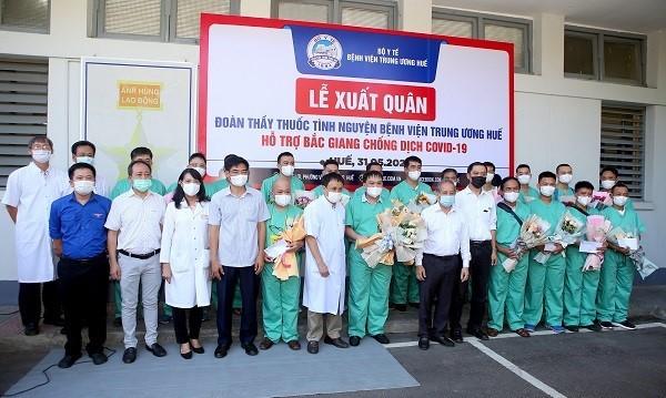 Các địa phương chi viện giúp tỉnh Bắc Giang chống dịch COVID-19