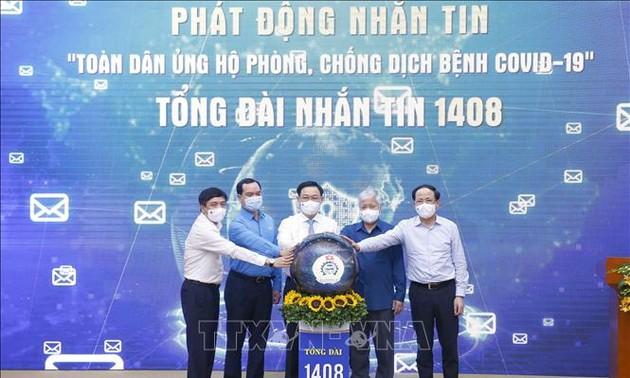 """Lễ phát động nhắn tin """"Toàn dân ủng hộ phòng, chống dịch bệnh COVID-19"""""""