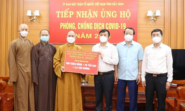 Giáo hội Phật giáo Việt Nam chung tay cùng Bắc Giang và Bắc Ninh chống dịch COVID-19
