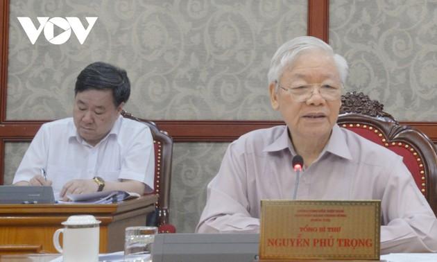 Tổng Bí thư Nguyễn Phú Trọng: Tuyệt đối không lơ là chủ quan trong công tác phòng chống dịch Covid 19