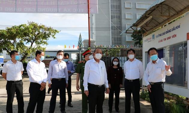 Phó Thủ tướng Trương Hòa Bình kiểm tra công tác phòng dịch covid-19 tại Bà Rịa – Vũng Tàu
