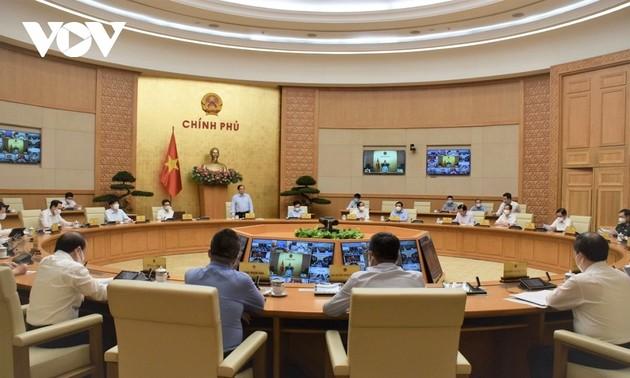 Hội nghị trực tuyến Thường trực Chính phủ với 27 địa phương phía Nam về công tác phòng dịch Covid-19