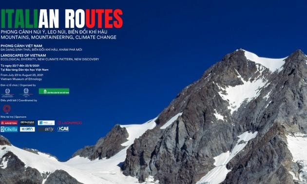"""Triển lãm ảnh """"ITALIAN ROUTES - Phong cảnh núi Italy, leo núi, biến đổi khí hậu"""""""