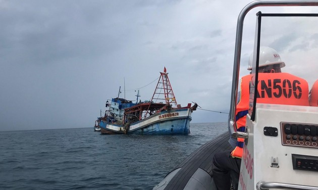 Chi đội Kiểm ngư Vùng V Hải quân tăng cường tuần tra trên vùng biển Tây Nam chống khai thác IUU