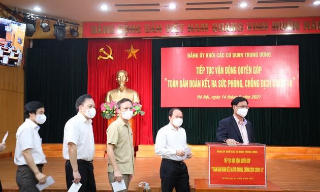 Đảng ủy Khối các cơ quan Trung ương ủng hộ phòng, chống dịch Covid-19