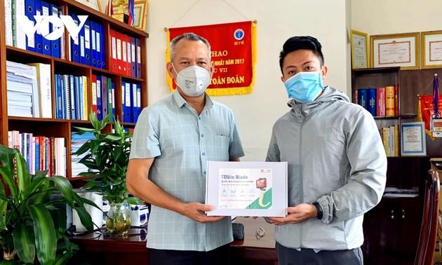 Nam sinh khoa Y chế tạo dụng cụ đặt ống thở hỗ trợ điều trị Covid-19