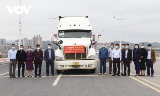 Tỉnh Quảng Ninh tiếp nhận 800.000 liều vaccine và vật tư y tế do Trung Quốc viện tr
