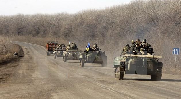 Украинская армия начала отвод вооружений от линии конфликта в Донбассе