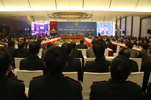 Ngành Tư pháp cần tiếp tục thực hiện tốt vai trò đầu mối trong  triển khai thi hành Hiến pháp 2013