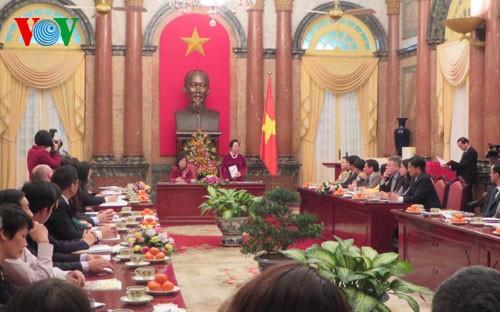 Phó Chủ tịch nước Nguyễn Thị Doan tiếp Đoàn Đại biểu các nhà tài trợ Quỹ Bảo trợ Trẻ em Việt Nam