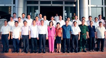 Thường trực Ban Bí thư Lê Hồng Anh thăm và làm việc tại tỉnh Ninh Bình