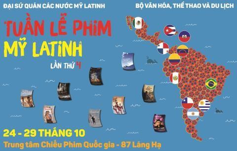 Tuần lễ phim Mỹ La tinh lần thứ IV sẽ diễn ra từ 24-29/10 tại Hà Nội