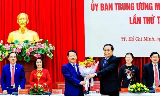Ông Hầu A Lềnh được hiệp thương cử giữ chức Phó Chủ tịch, kiêm Tổng Thư ký Uỷ ban Trung ương MTTQ VN