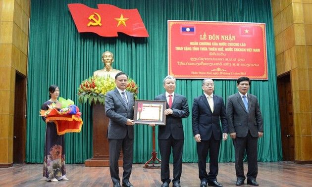 Thừa Thiên - Huế nhận Huân chương Lao động hạng Nhất của Chủ tịch nước CHDCND Lào