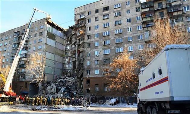 Điện thăm hỏi Tổng thống Liên bang Nga về vụ sập chung cư do nổ khí ga tại thành phố Magnitogorsk, Liên bang Nga