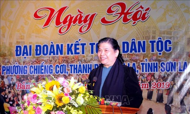 Ngày hội đoàn kết toàn dân  tại phường Chiềng Cơi, thành phố Sơn La, tỉnh Sơn La
