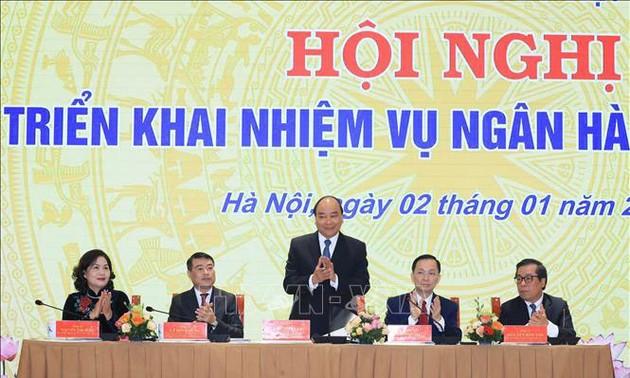Thủ tướng Nguyễn Xuân Phúc dự hội nghị triển khai nhiệm vụ Ngân hàng Nhà nước năm 2020