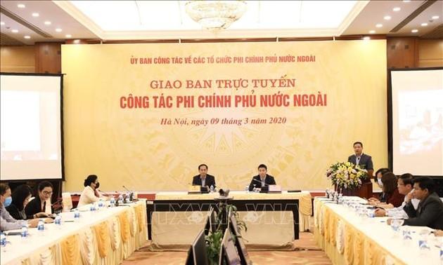 Hội nghị giao ban trực tuyến về công tác phi chính phủ nước ngoài năm 2019