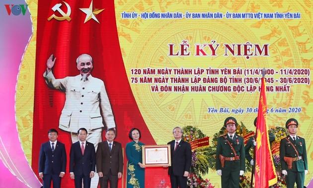 Thường trực Ban Bí thư Trần Quốc Vượng dự Lễ kỷ niệm 120 năm Ngày thành lập tỉnh, 75 năm thành lập Đảng bộ tỉnh Yên Bái