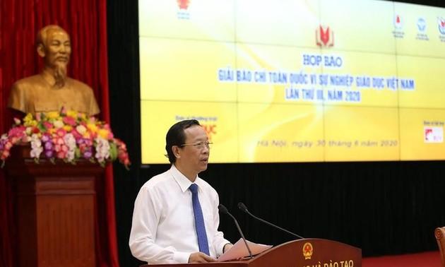 """Phát động Giải báo chí toàn quốc """"Vì sự nghiệp Giáo dục Việt Nam"""" năm 2020"""