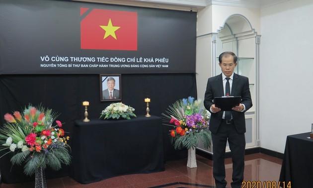 Đại sứ quán Việt Nam tại Brunei tổ chức lễ viếng và mở sổ tang nguyên Tổng Bí thư Lê Khả Phiêu