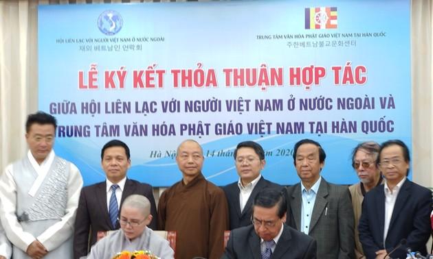 Ký kết thỏa thuận hợp tác kết nối cộng đồng phật tử người Việt ở Hàn Quốc với Hội Liên lạc với người Việt Nam ở nước ngoài