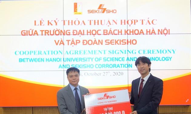 Công ty Sekisho (Nhật Bản) tài trợ 1,2 tỷ đồng cho Trường Đại học Bách khoa Hà Nội