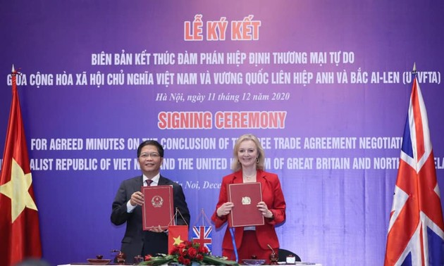 Ký kết kết thúc đàm phán Hiệp định Thương mại tự do giữa Vương quốc Anh và Việt Nam (UKVFTA)