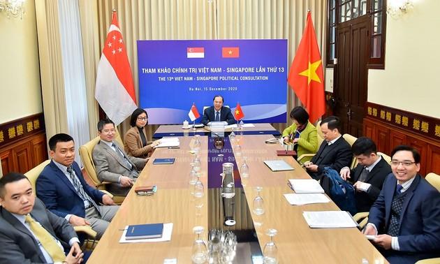 Việt Nam - Singapore hướng tới thực hiện mục tiêu kép về ngăn chặn đại dịch và phục hồi bền vững